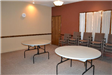 Meeting room at Hudson Street Hall with tables and chairs