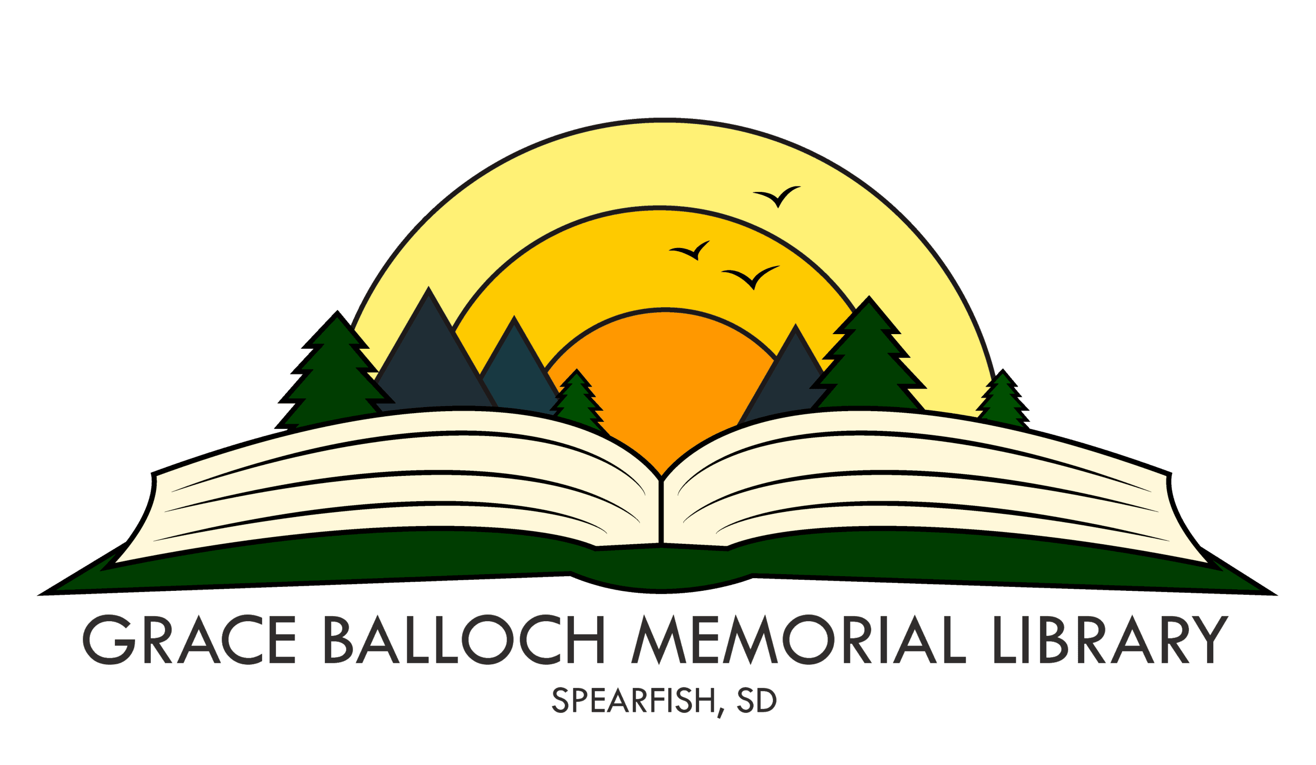 Grace Balloch Memorial Library's official logo