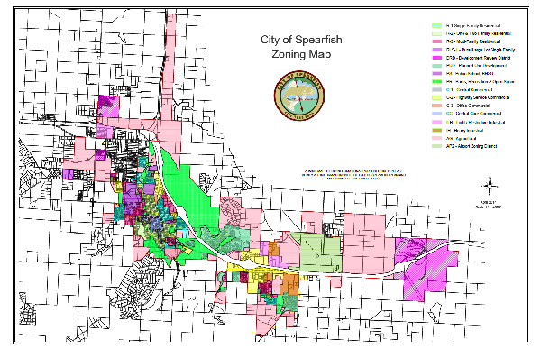 City Zoning Map Without Aerial - 11 Inch by 17 Inch (PDF)