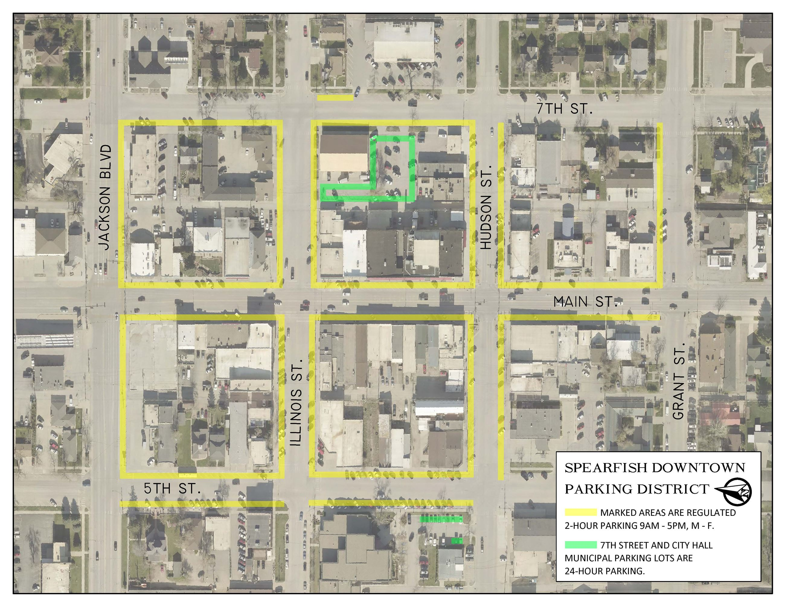 Spearfish Downtown Parking District Map (JPG)